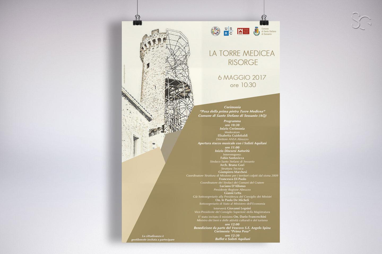 locandina-cerimonia-posa-della-prima-pietra-torre-medicea-grafica-stefano-giancola