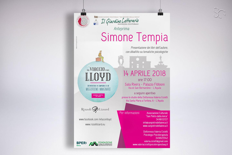 locandina-evento-presentazione-libri-simone-tempia-valeria-ciciotti-grafica-stefano-giancola