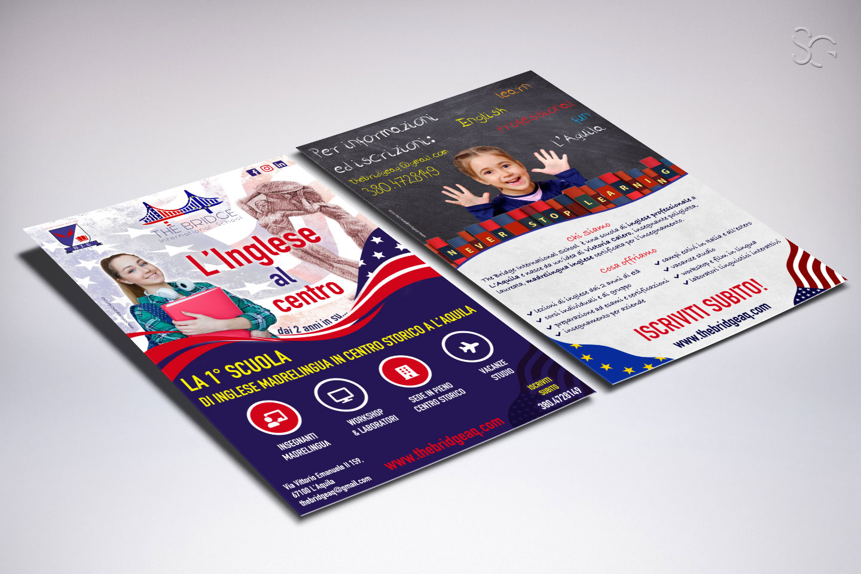 flyer-informativo-the-bridge-international-school-laquila-grafica-stefano-giancola