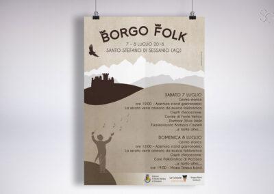 LOCANDINA BORGO FOLK